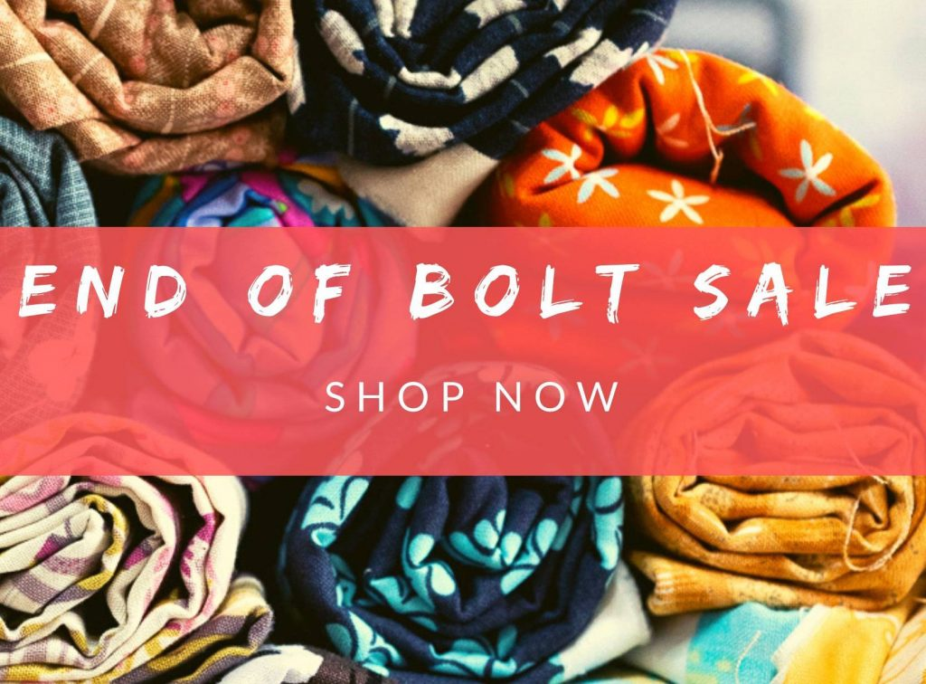End of Bolt Sale finishes tomorrow