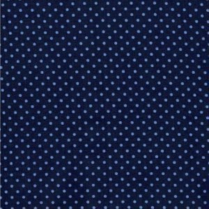 Blue on Navy Spot Fabric 7037-58