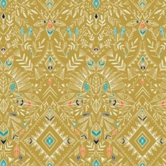 Boho Meadow Fabric D1381 Gold