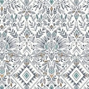 Boho Meadow Fabric D1380 Cream