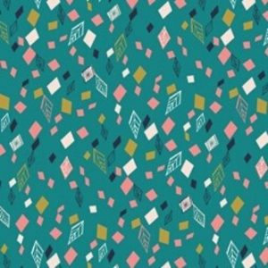 Boho Meadow Fabric D1379 Teal