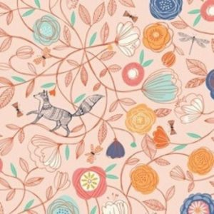 Boho Meadow Fabric D1376 Lt Pink