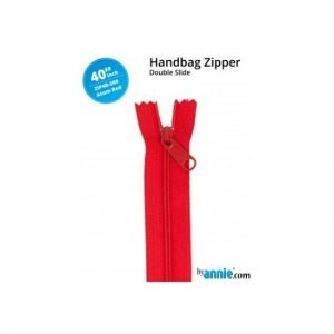 by annie Double Slide Handbag Zipper Atom Red 40""
