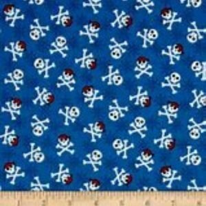 Fabulous Foxes Cotton Fabric 15637-4 Blue