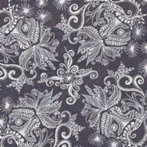 In the Bloom Cotton Fabric 15254184 Charcoal
