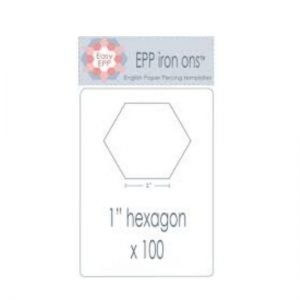 "EPP Iron on's - 1"" Hexagon"