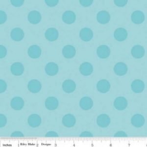 Riley Blake Medium Dot Tone on Tone Aqua Flannel