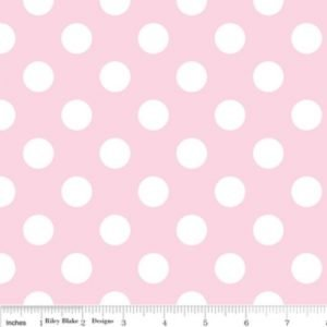 Riley Blake Medium Dot Tone on Tone Baby Pink Flannel