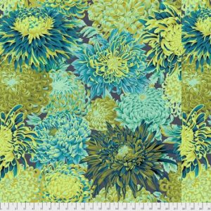 Kaffe Fassett Fall 2018 Collective Japenese Chrysanthemum PWPJ041.forest