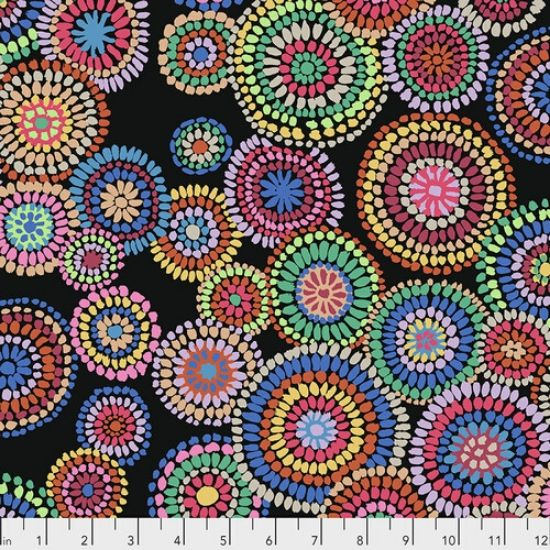 Kaffe Fassett Collective Feb 2020 Mosiac Circles PWGP176-BLACK