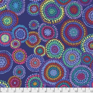 Kaffe Fassett Collective Feb 2020 Mosiac Circles PWGP176-BLUE
