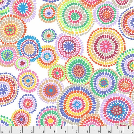 Kaffe Fassett Collective Feb 2020 Mosiac Circles PWGP176-WHITE