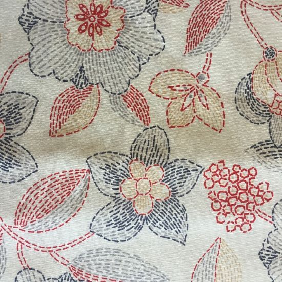 Red Rooster Modern Stitching Fabric RR25407WHI