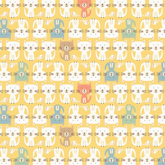 Cool Cats Fabric M2185Y