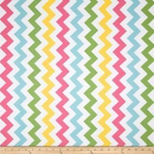 Riley Blake Rainbow Chevron Fabric C340-03