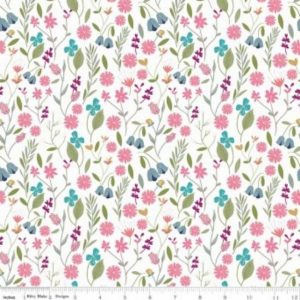 Riley Blake In the Meadow Fabric C7991-White