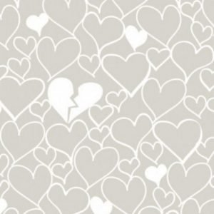 Devonstone Basics Collection Hearts White Fabric DV2034