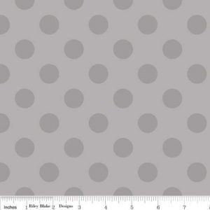 Riley Blake Medium Dot Tone on Tone in Grey Flannel SKU: F430-40-Grey