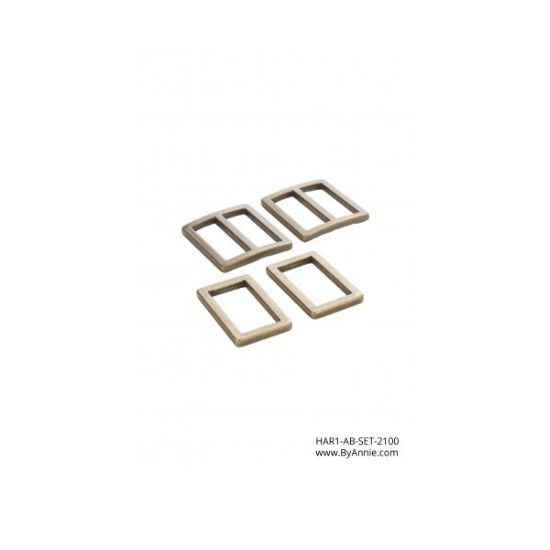 "by annie.com HAR1- AB-Set 2100 1"" Ant Brass"