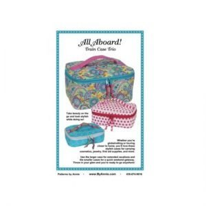 by annie.com All aboard Train Case Trio Pattern