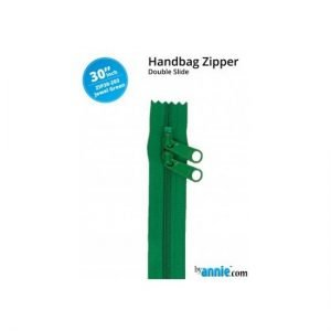 by annie Double Slide Handbag Zipper Jewel Green 30""