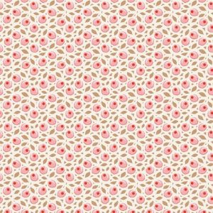 Tilda Birdpond Tiny Plum Peach Fabric 100096
