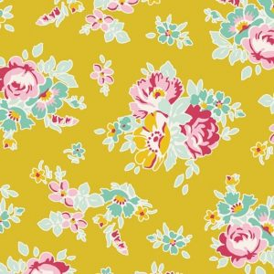 Tilda Apple Butter Sue Mustard Fabric 100147