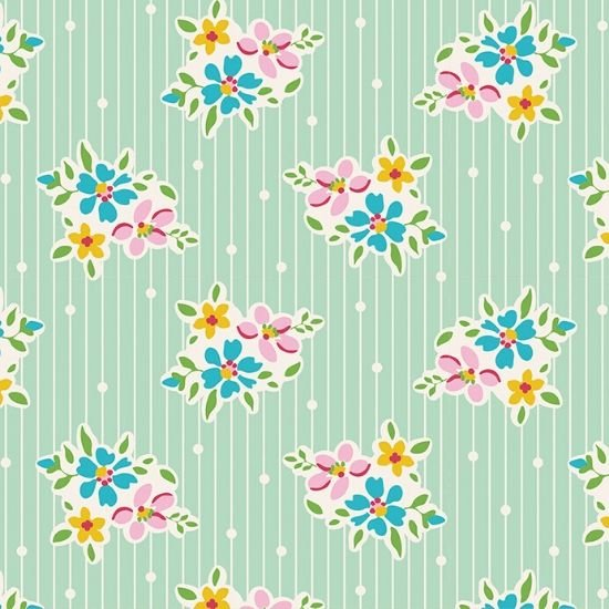 Tilda Apple Butter Nancy Teal Fabric 100152