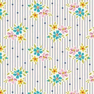 Tilda Apple Butter Nancy Blue Fabric 100160