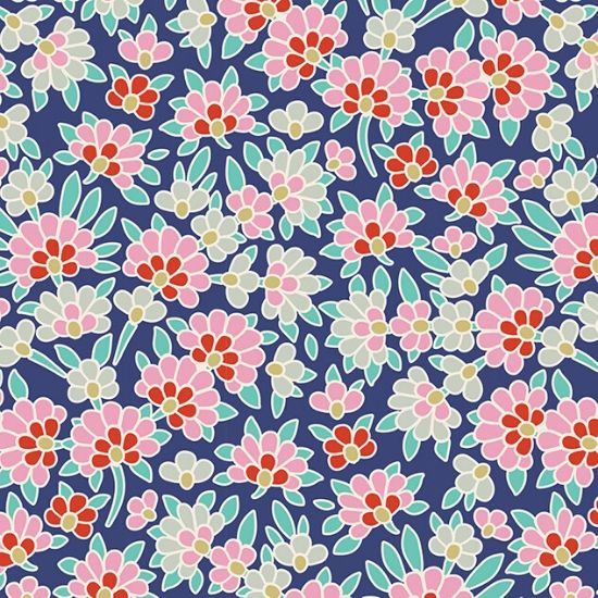 Tilda Lazy Days Josephine Blue Fabric 100174
