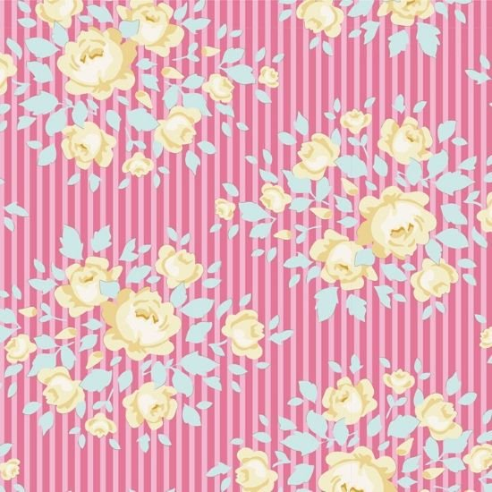 Tilda Happy Campers Marylou Rose Fabric 100233