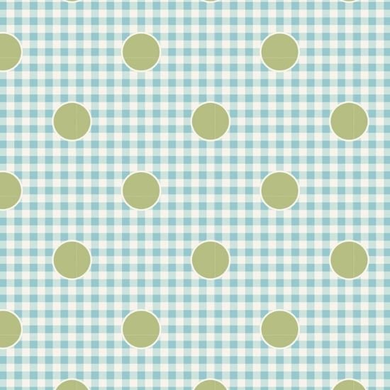 Tilda Happy Campers Gingdot Teal Fabric 100240
