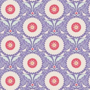 Tilda Bon Voyage Ringflower Blue Fabric 100243