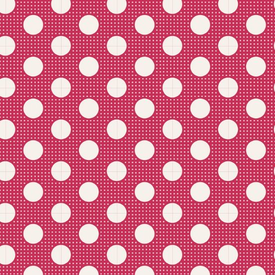 Tilda Medium Dots Red Fabric 130027