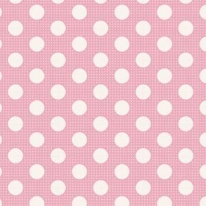 Tilda Medium Dots Pink Fabric 130003