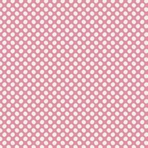 Tilda Basics Classic Paint Dots Pink Fabric 130034