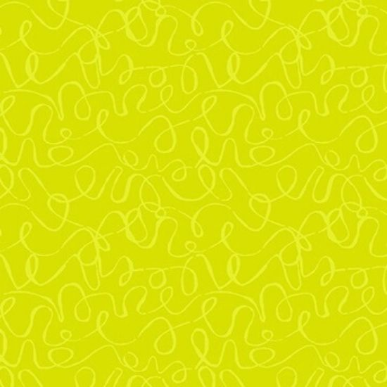 Scribbles Lime Fabric A8889G5