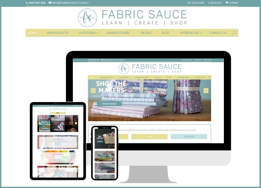 Welcome to the new Fabric Sauce website!