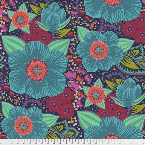 Hindsight Wideback Fabric by Anna Maria Horner QBAH002-TURQUOISE