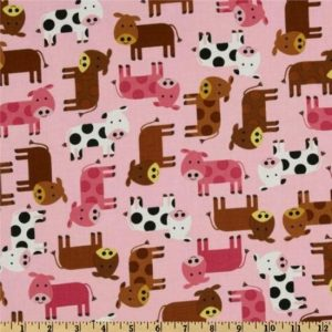 Urban Zoologie Cotton Fabric 1285810 Pink