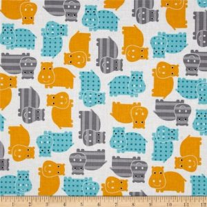 Urban Zoologie Cotton Fabric 139521-1 White