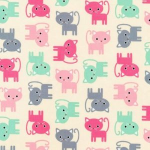 Urban Zoologie Cotton Fabric 15724-198 Pastel