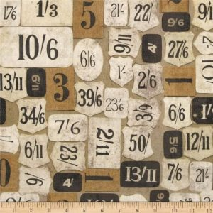 Tim Holtz Eclectic Elements Mercantile fabric PWTH 018