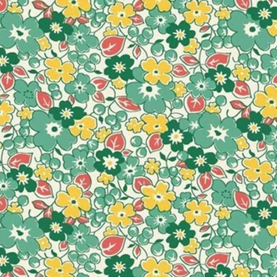 Vintage 1930s Floral Fabric WS313G