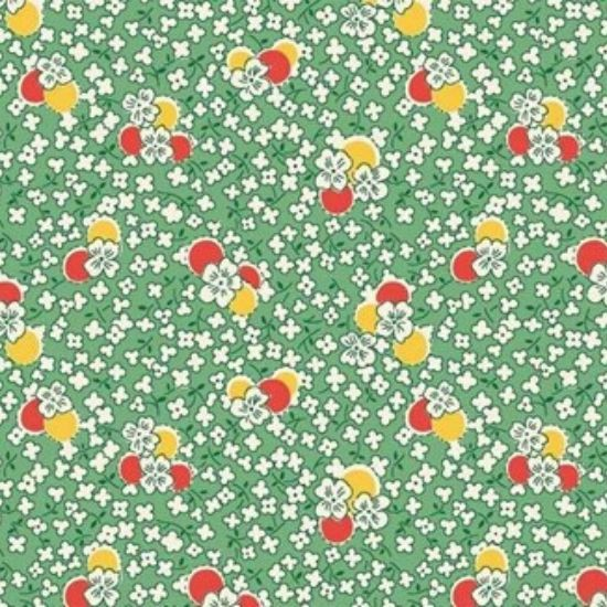 Vintage 1930s Floral Fabric WS315G
