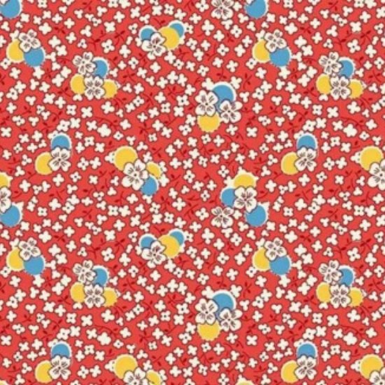 Vintage 1930s Floral Fabric WS315R