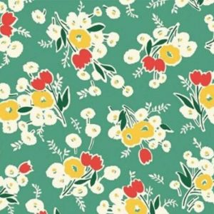 Vintage 1930s Floral Fabric WS316G