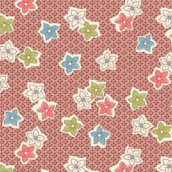 Vintage 1930s Floral Fabric WS317R