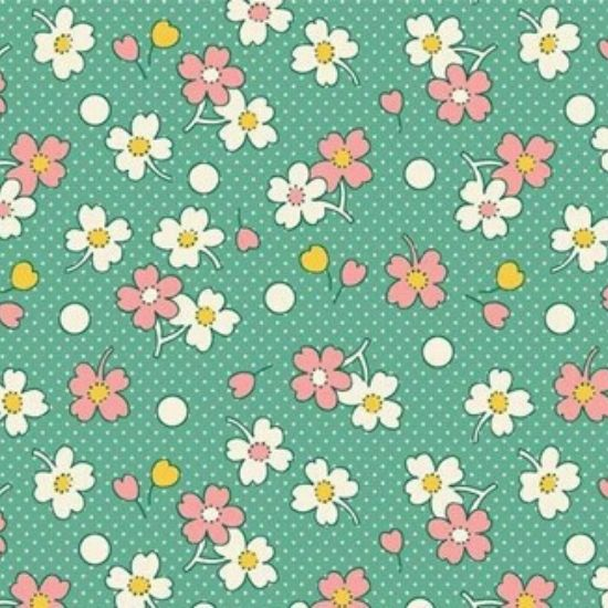Vintage 1930s Floral Fabric WS318G