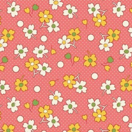 Vintage 1930s Floral Fabric WS318P
